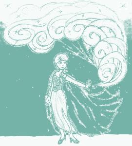 Elsa Doodle Blue Sky